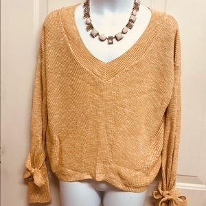 NWT Express Sweater w/Tie Bell Sleeves